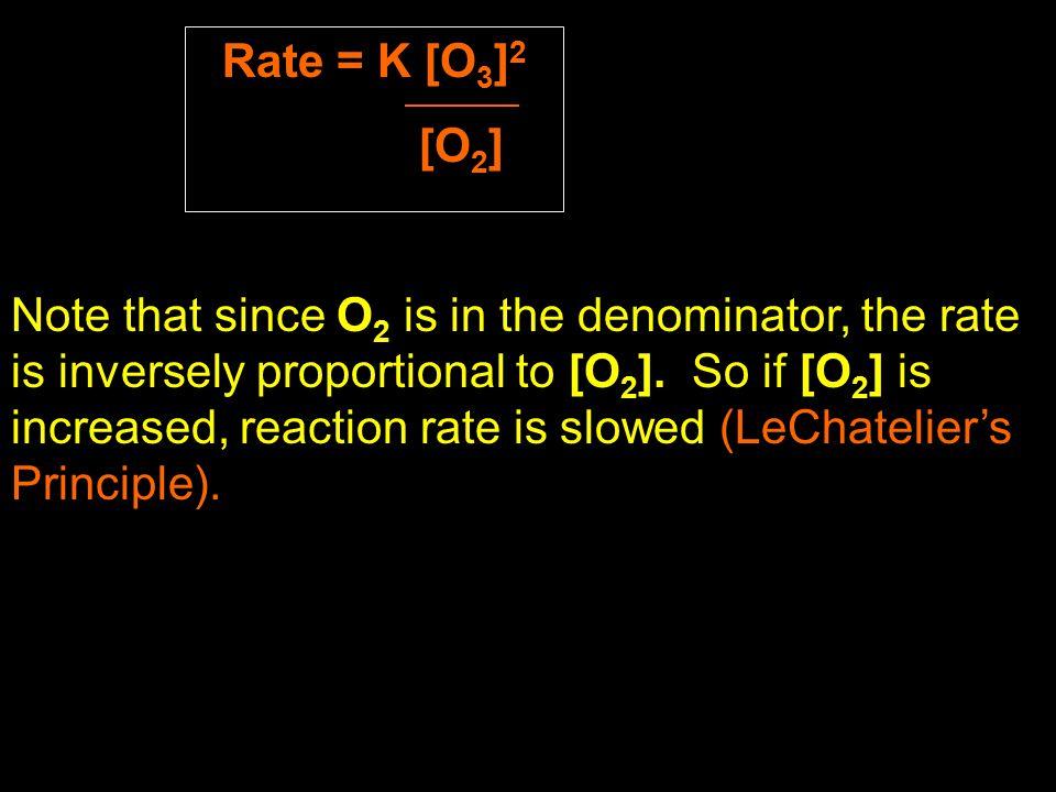 Rate = K [O3]2 [O2]